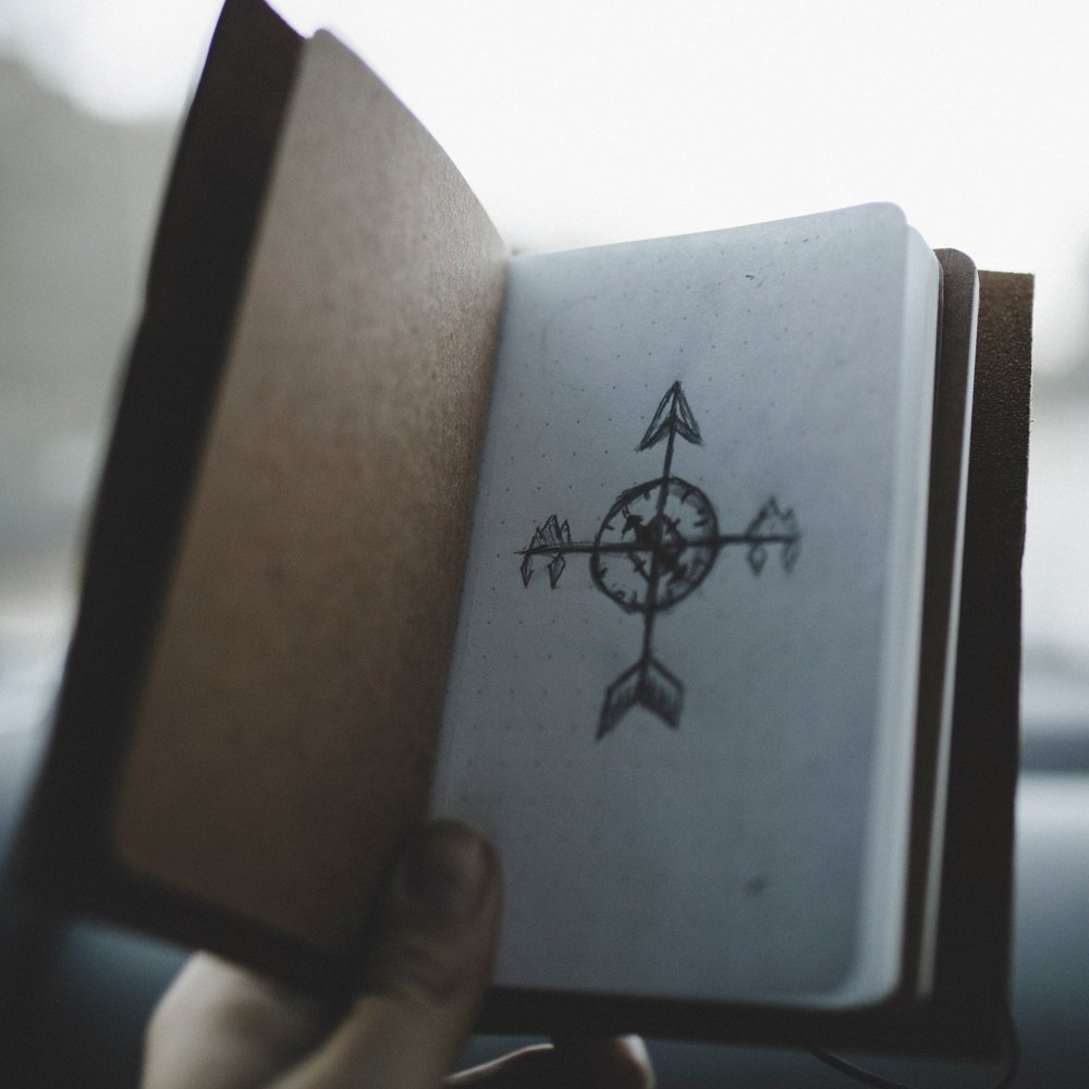 notebook compass