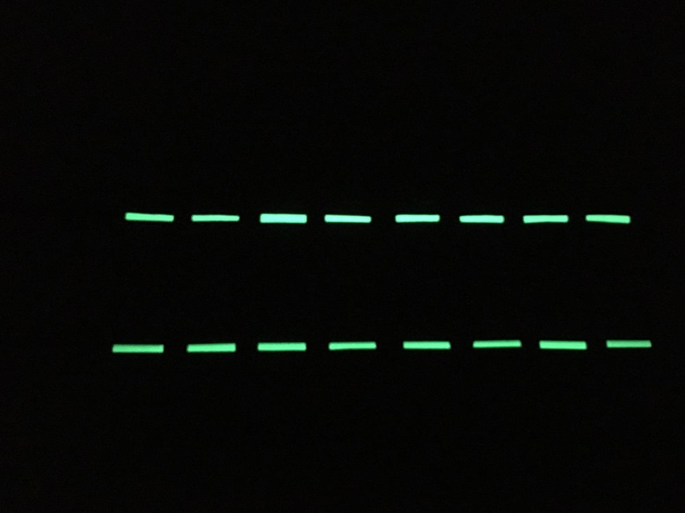 Glow-in-the-dark tape, no worries! (think I'll put another row along the middle too)