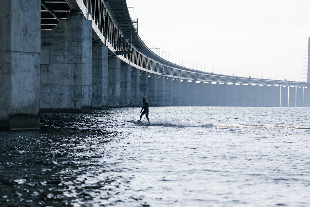 Electric surfing in Malmö