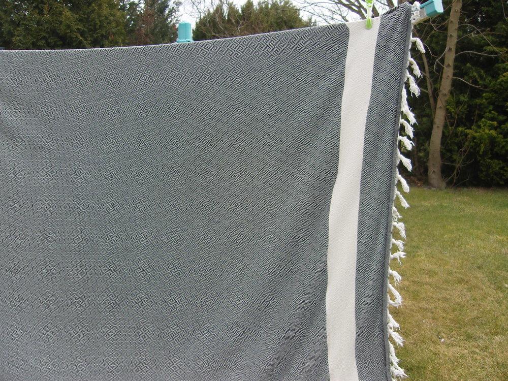 ... wurde bei heutiger Frühlingsluft die Decke getrocknet!