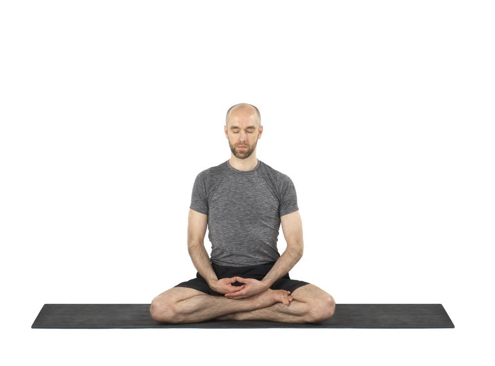 Seated meditation pose