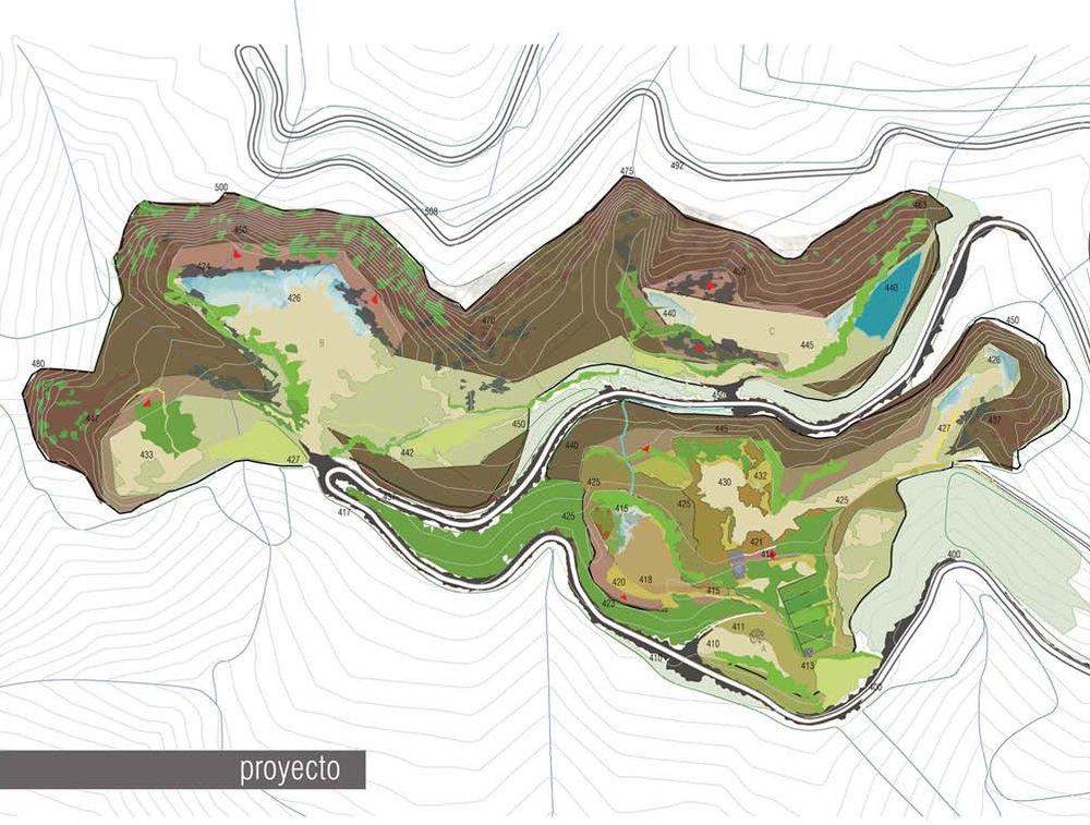 Aménagement écologique d'une ancienne carrière   concours UNILAND pour l'aménagement écologique d'une ancienne carrière de pierre à Caldes de Montbui en Espagne.