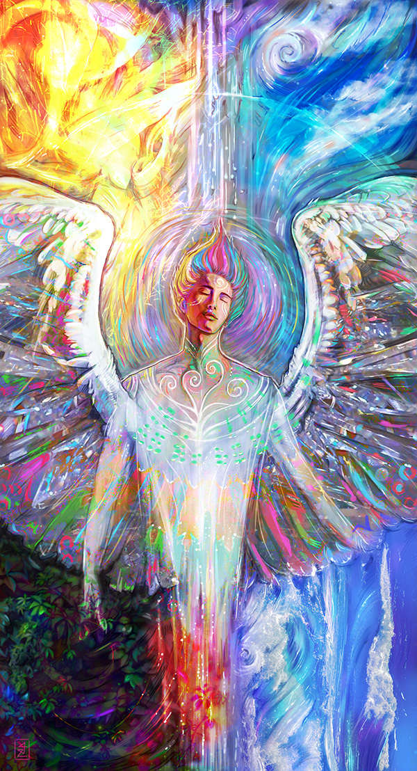 Elemental - Angelic artwork by Jennifer Hawkyard