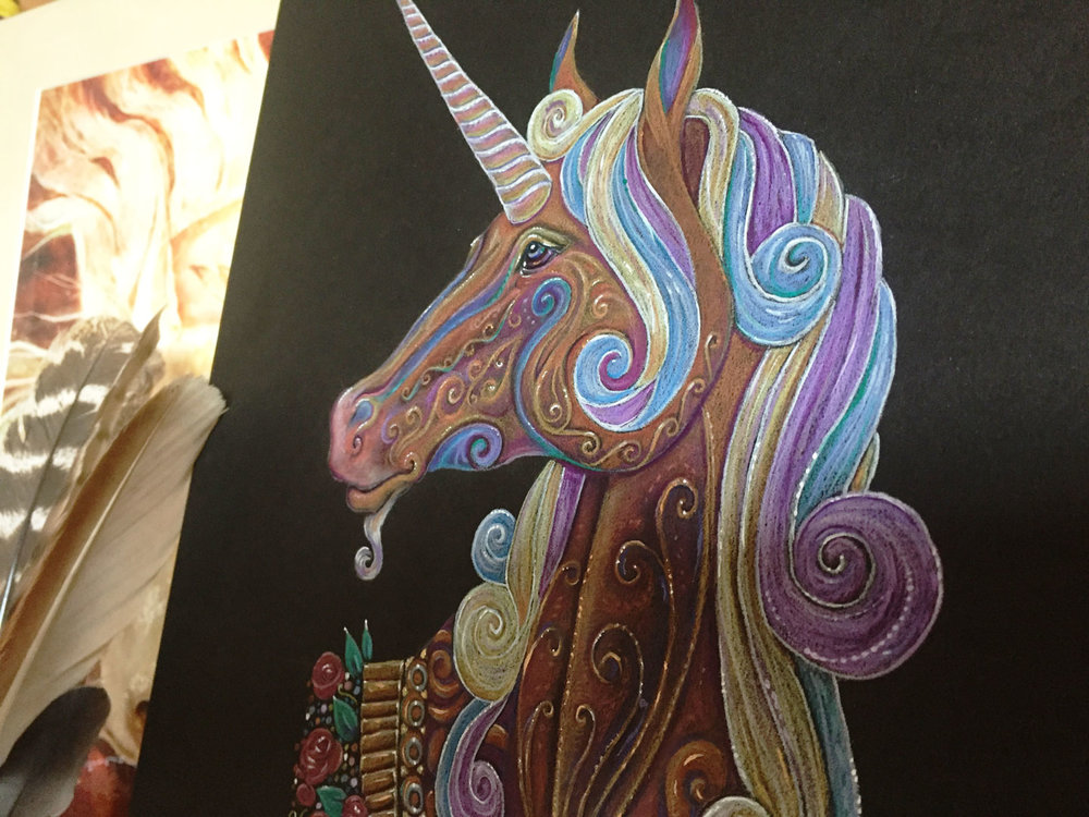 Unicorn Totem - Illustration by Jennifer Hawkyard