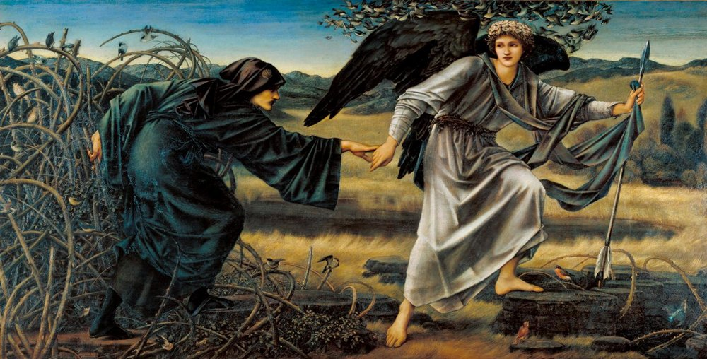 Love and the Pilgrim by Edward Burne-Jones