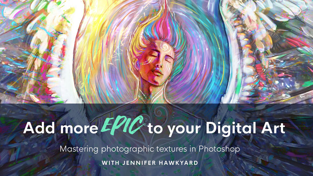 Add more epic to your digital art, learn how to master photographic textures in Photoshop with teacher Jennifer Hawkyard