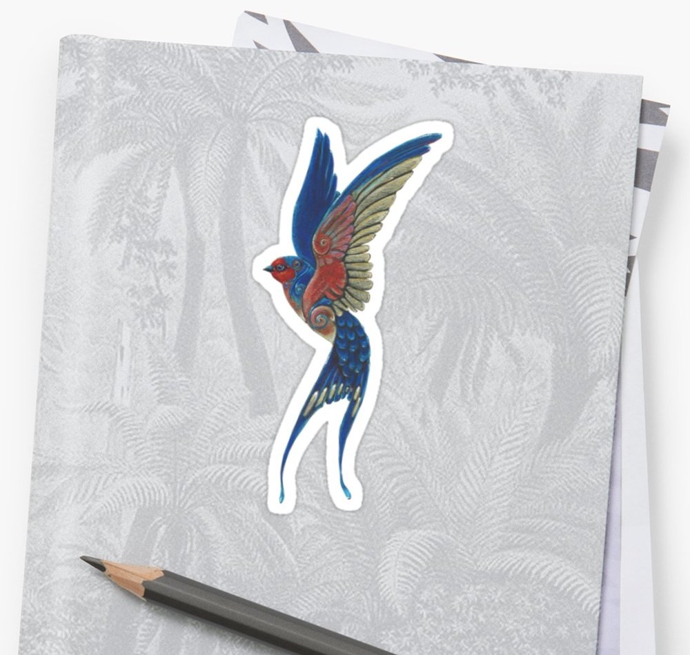 Phoenix Totem available on home decor items on Redbubble