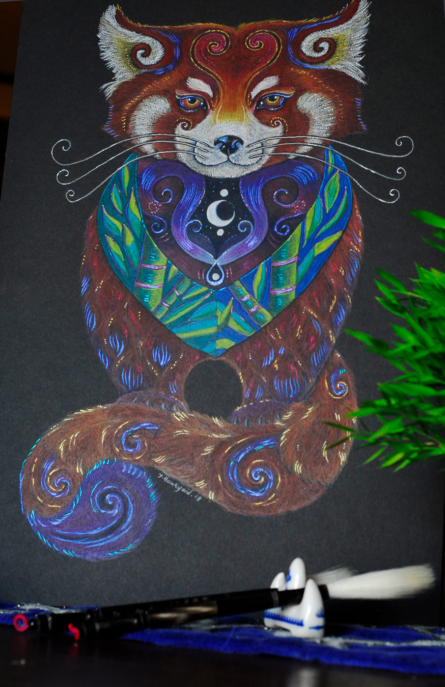 Red Panda Totem by Jennifer Hawkyard
