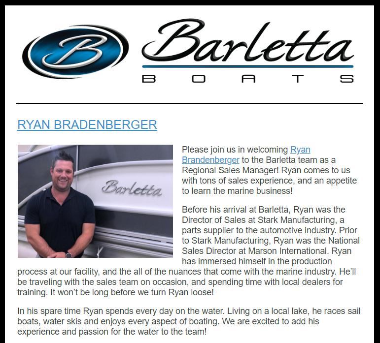 Welcome Ryan Brandenberger