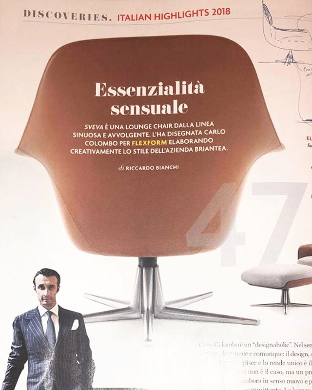 Sensual essentiality @ad_italia  Sveva lounge chair @flexformspa design by Carlo Colombo  #ad #italy #italia #highlights #design #flexform #sveva #carlocolombo #designer #architecture #interiordesign #love #architecture #material #leather #lounge #chair #chairdesign #armchair #luxury #craftmanship