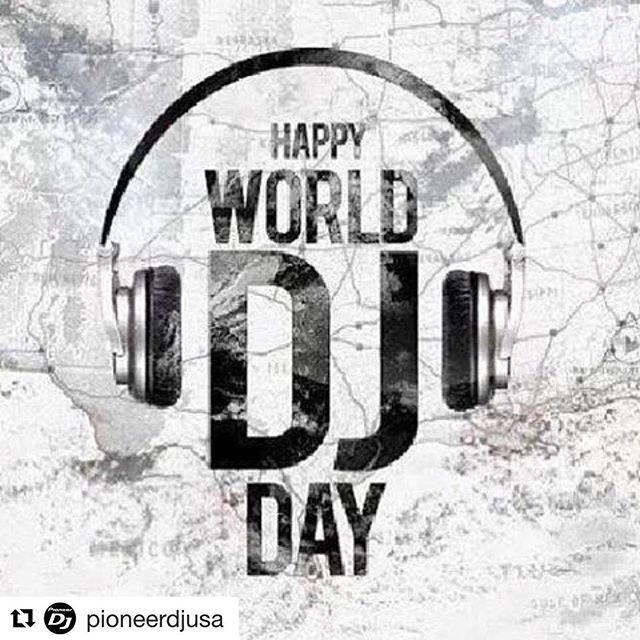 Salute to all of the great DJS, the ones that are just starting out and the ones in between! #happyworlddjday