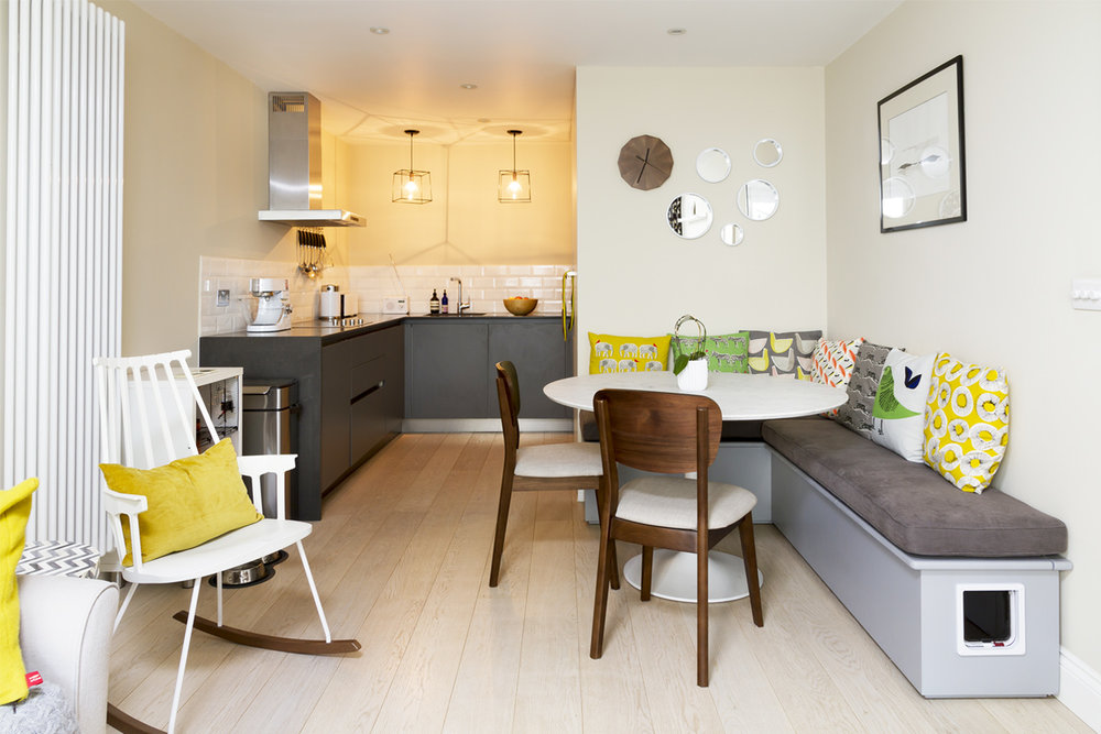 Open plan kitchen and dining room - 'after' photo