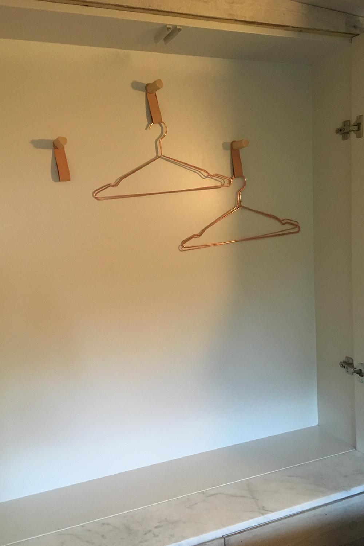 Hidden wardrobe (open)