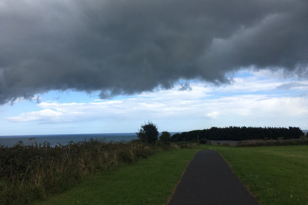 A photo taken on one of Audrey's coastal walks in Portmarnock, Co. Dublin