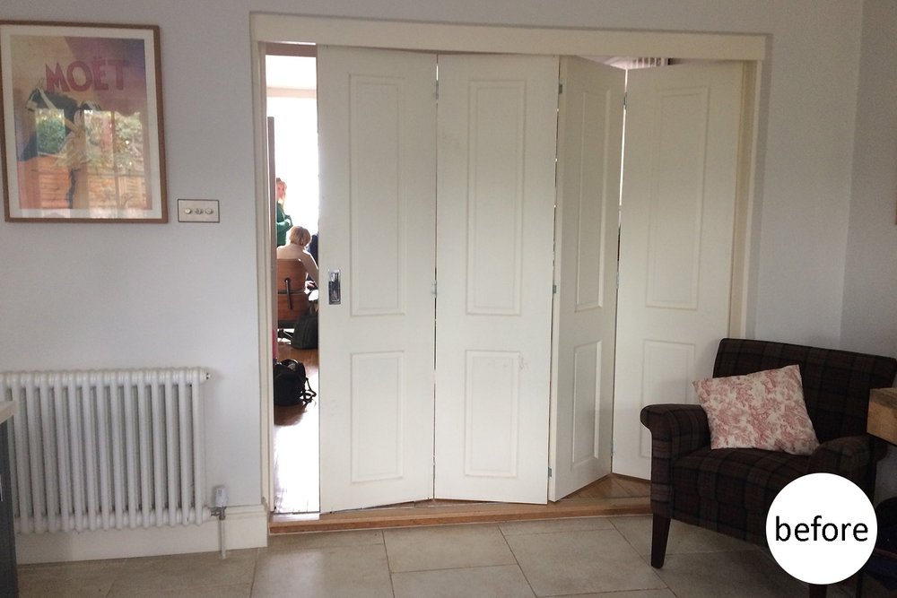 Bifold doors - before