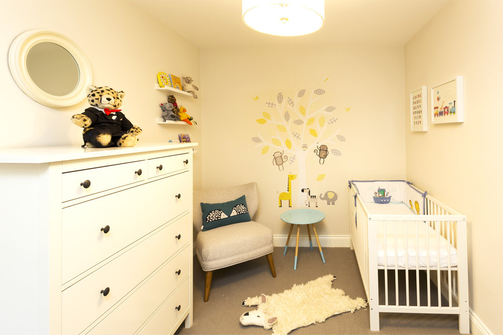 Chest of drawers, picture ledges & cot from IKEA  Find out more…
