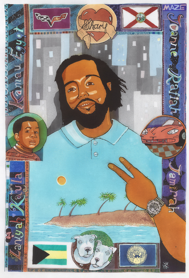 ENJOYING - PORTRAIT OF SHARIF RASHEED WILLIAMS BY LAURA MADELEINE