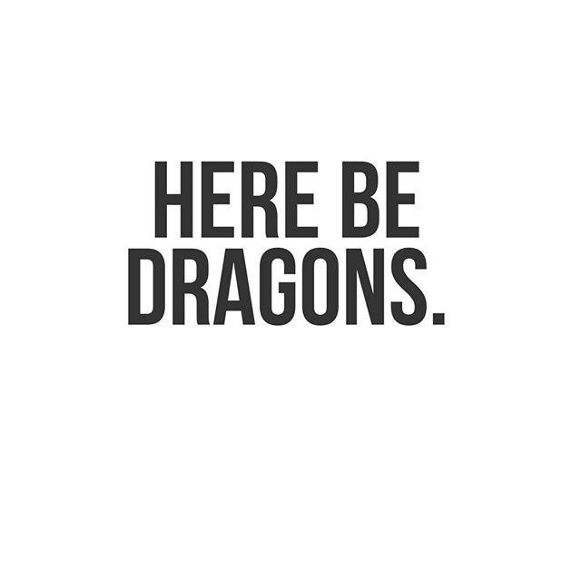 There Be Dragons, is what 'The Establishment' would print on the edge of maps, in undiscovered worlds, to stop their employees in the merchant navy going exploring. 'Here Be Dragons', for pirates meant there were safe in a place of danger, adventure, discover and possible fortune. Discover Dragons this Monday Morning. . . .  #bemorepirate #dragons #mondaymotivation #pirate #books #bookstagram #innovation #leadership #rebels #lifehacks #inspiration #quotes #motivation