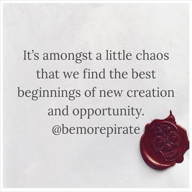 Success starts in mess, and creativity begins in chaos. Usually.  #bemorepirate #pirate #books #bookstagram #innovation #creativity #success #rulebreaker #lifehacks #inspiration #quotes