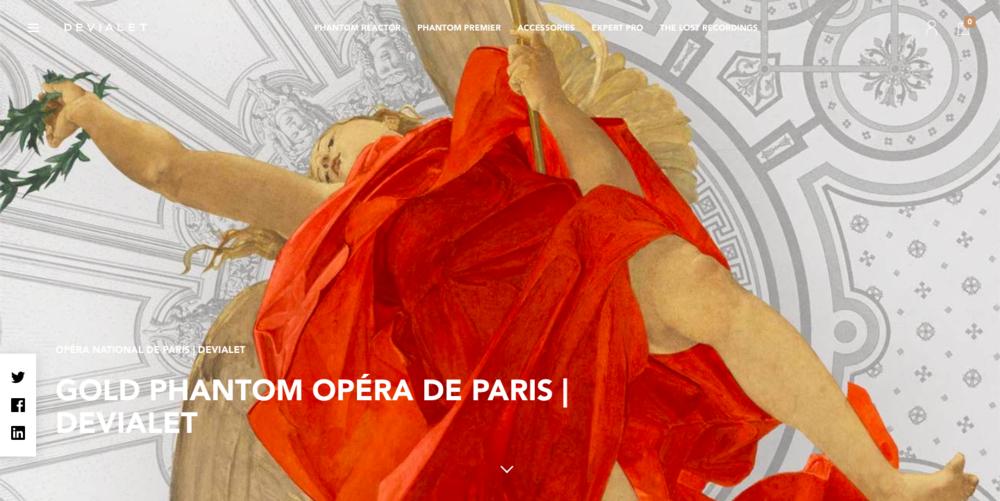 Gold Phantom Opéra de Paris | Devialet