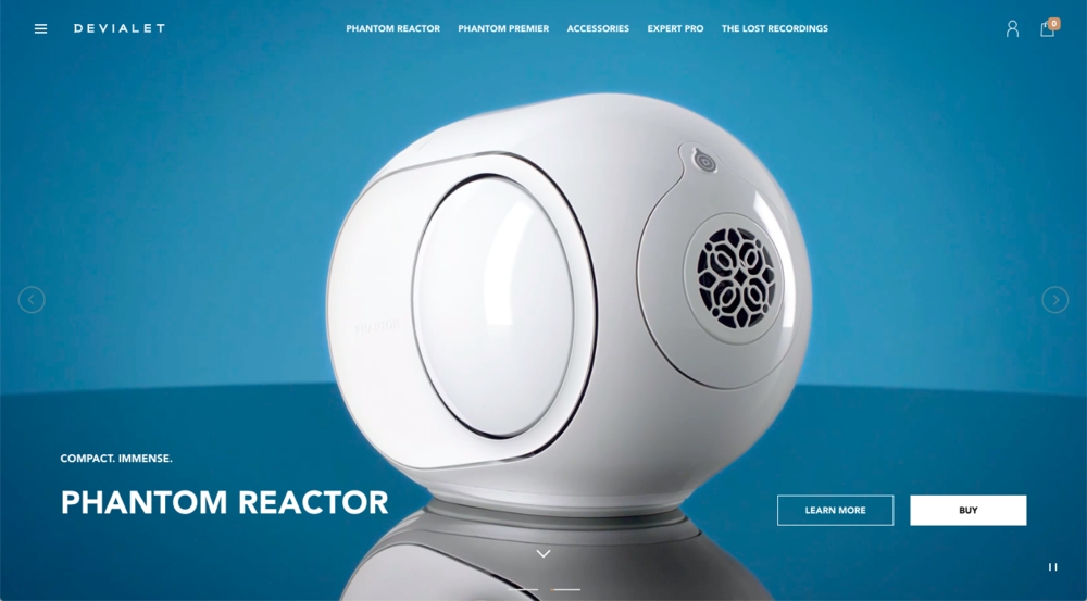 Devialet copywriting and content