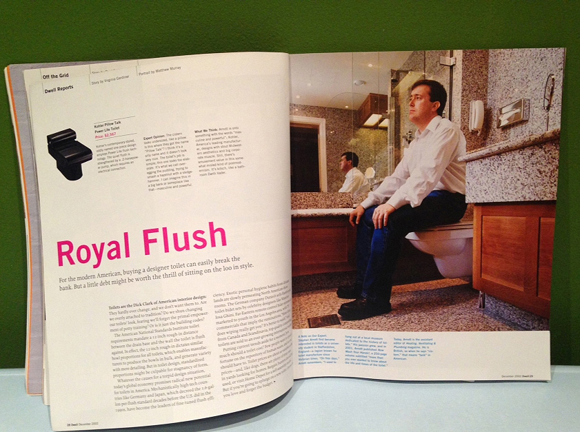 Portrait of author Steven Arnott at the Knightsbridge Hotel, London for Dwell Magazine, Los Angeles, USA