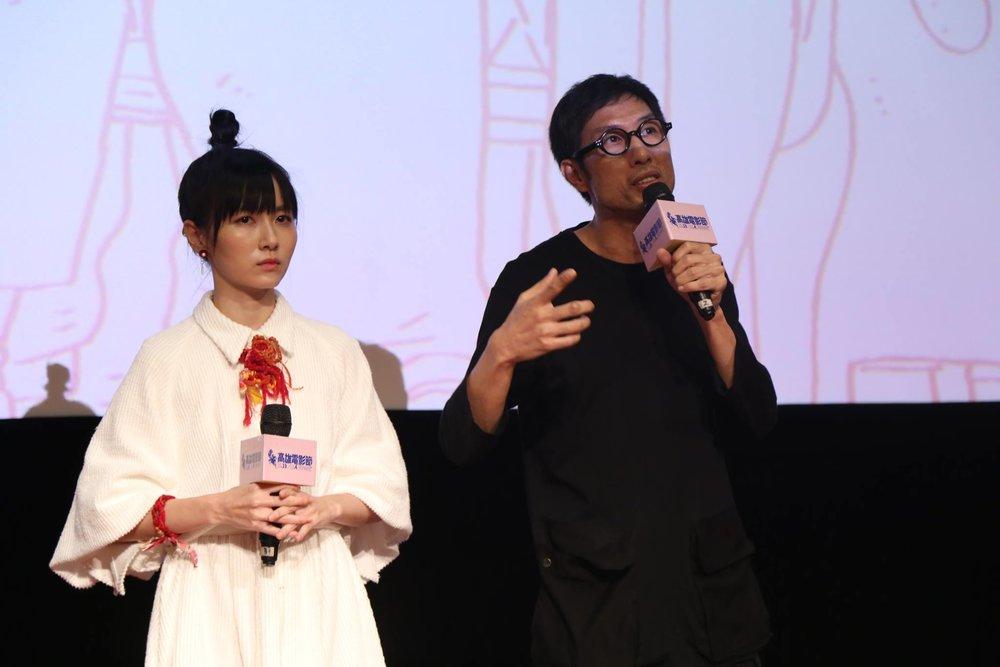 導演黃榮昇與演員饒星星出席映後座談。