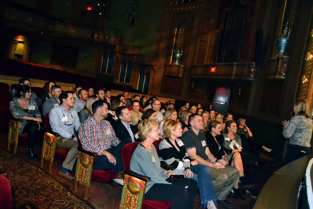 Ms. Becky Hancock, Executive Director of Tennessee Theatre talks to the group about the history of the theatre