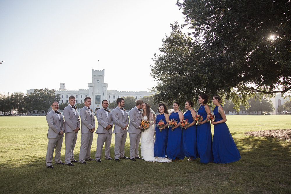Wedding Party Bridesmaids Groomsmen Charleston Wedding Photographer