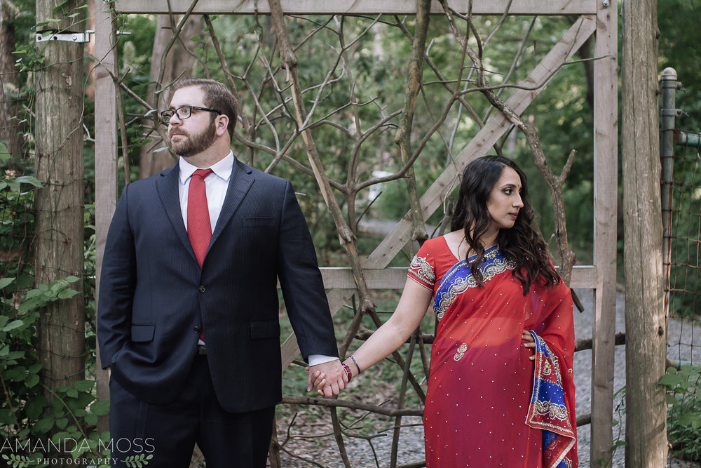 uncc botanical gardens engagement session