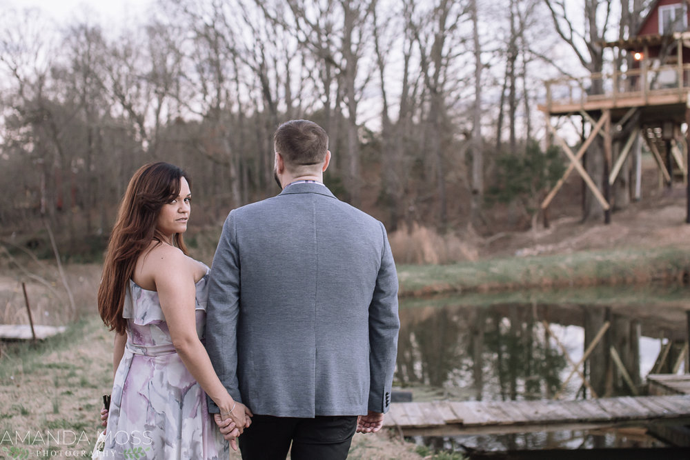 charlotte elopement treehouse vineyards
