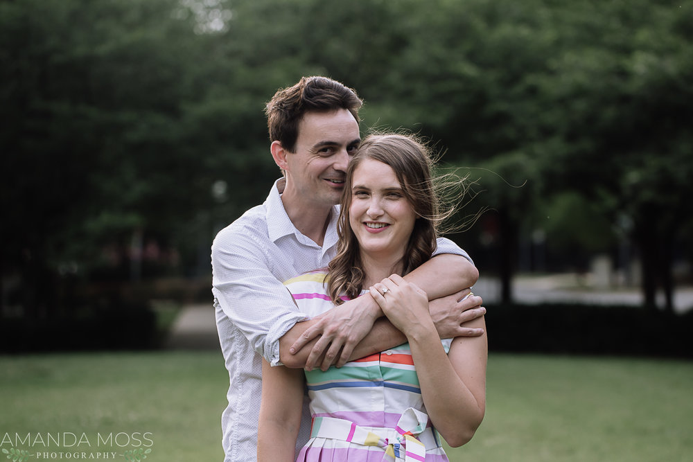 downtown charlotte engagement session