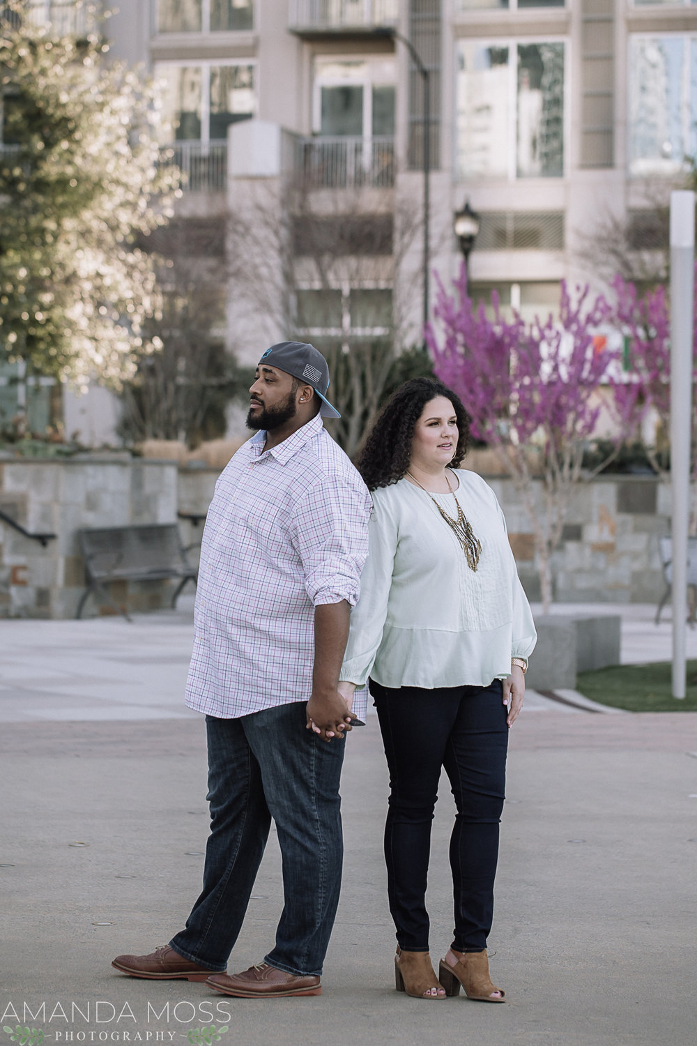 charlotte engagement session downtown