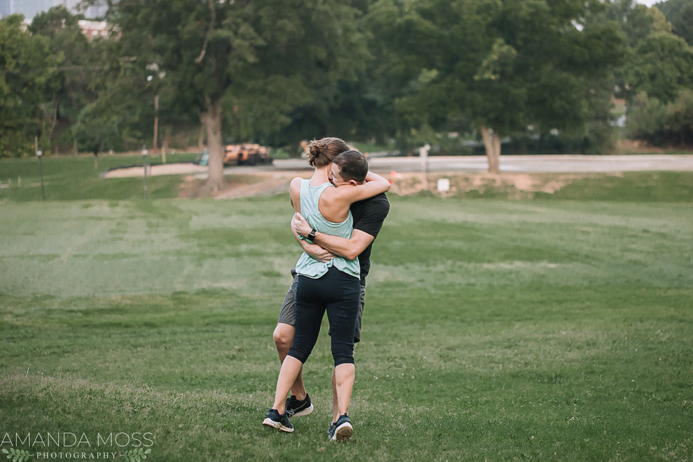 charlotte wedding photographer surprise proposal
