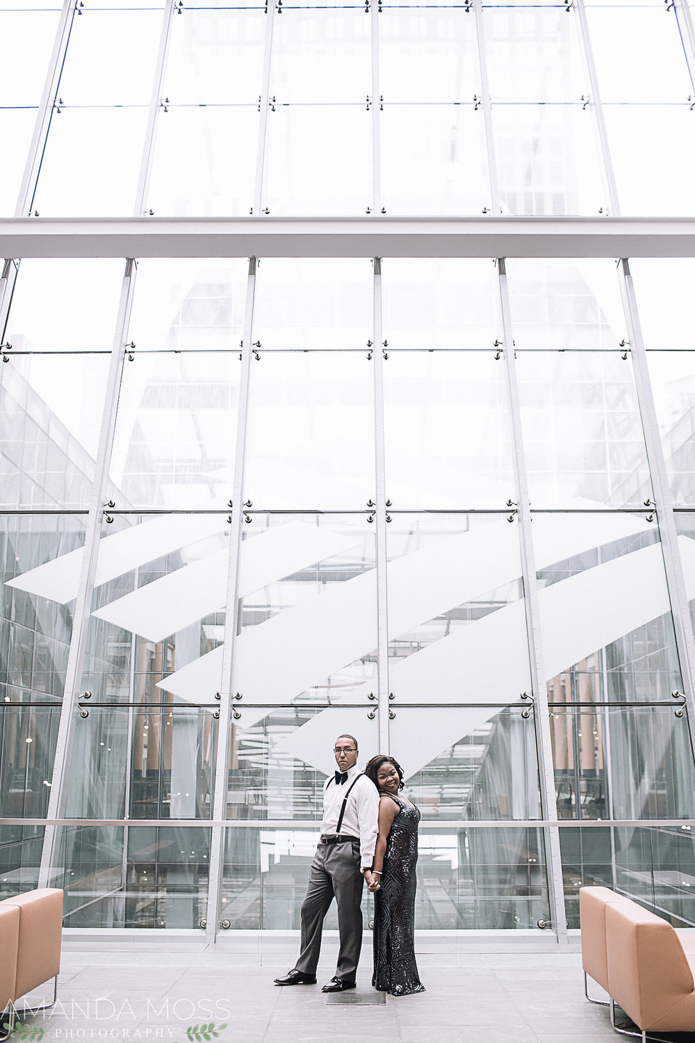 charlotte wedding photographer engagement session at the omni hotel
