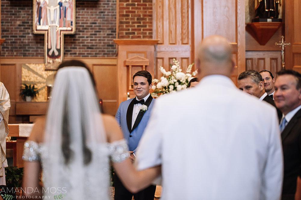 charlotte wedding photographer st john neumann catholic church catholic wedding