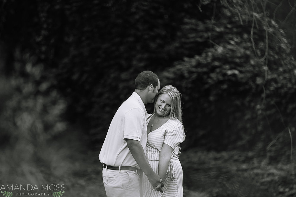 charlotte wedding photographer engagement session in belmont