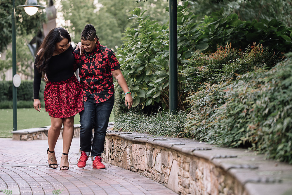 charlotte wedding photographer downtown engagement session