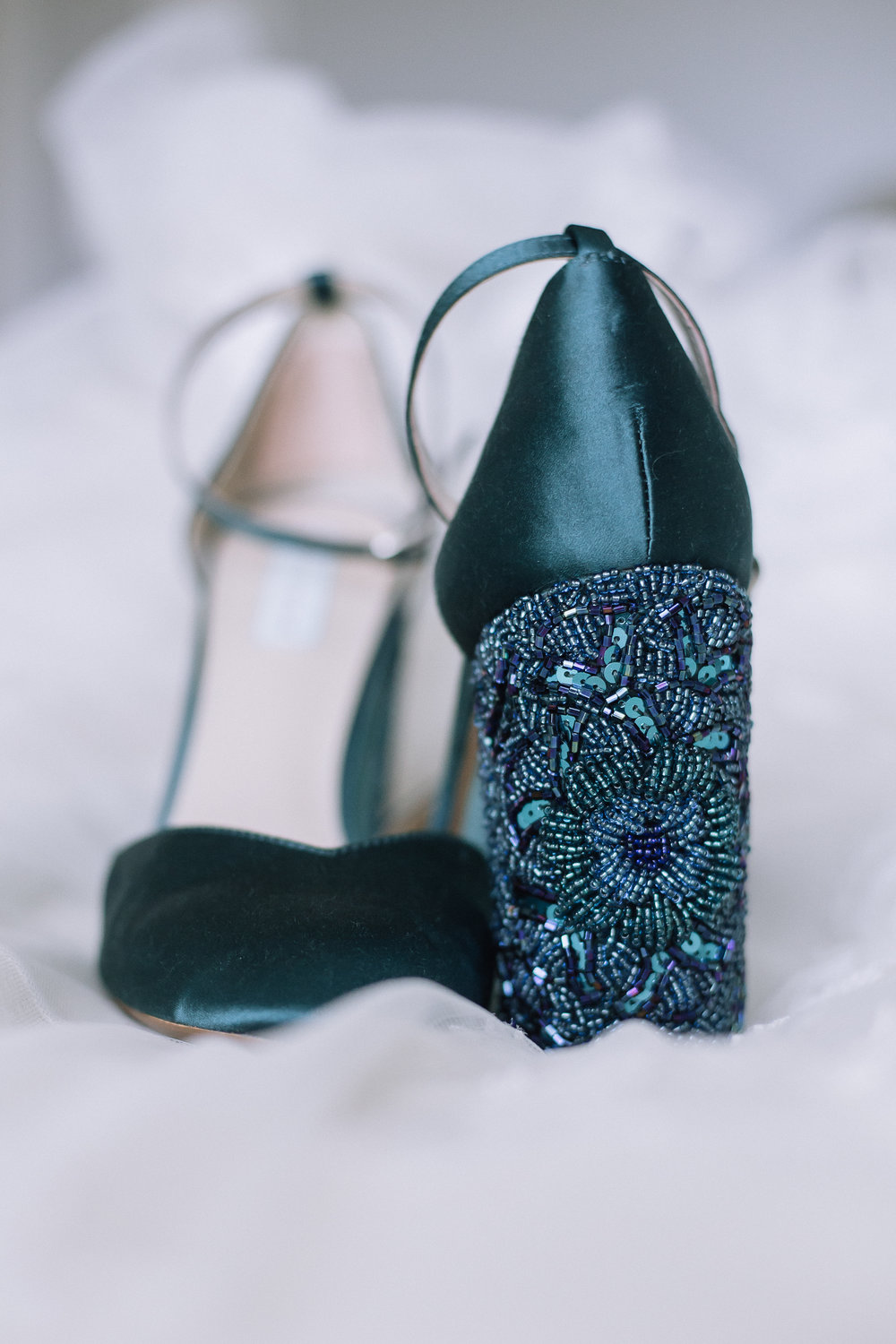 Catie brought shades of emerald all throughout her wedding. Including her shoes. These are still some of my favorites!