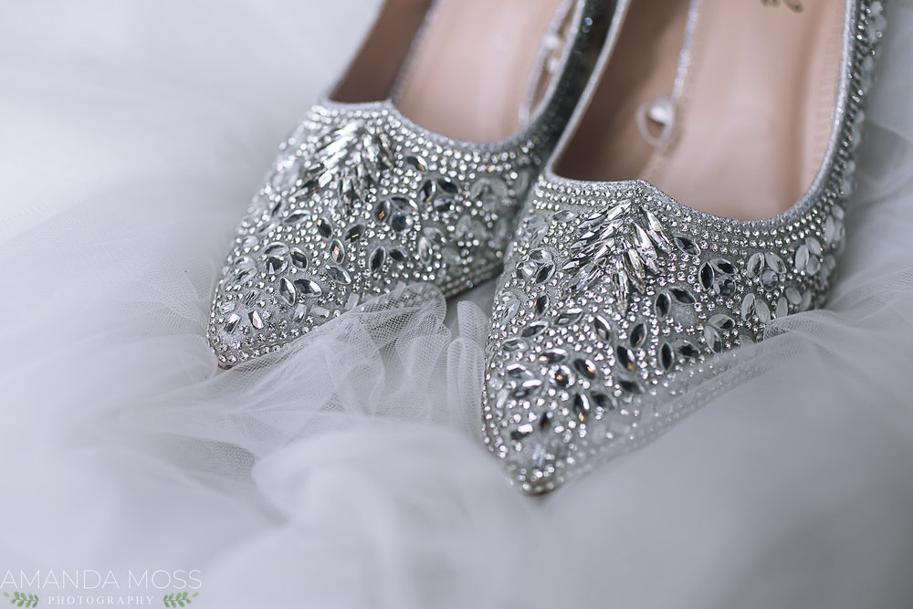 These super silvery jeweled babies were stunning! Look at them sparkle!