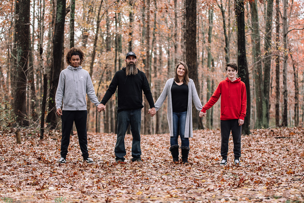 charlotte north carolina family photographer fall winter photo