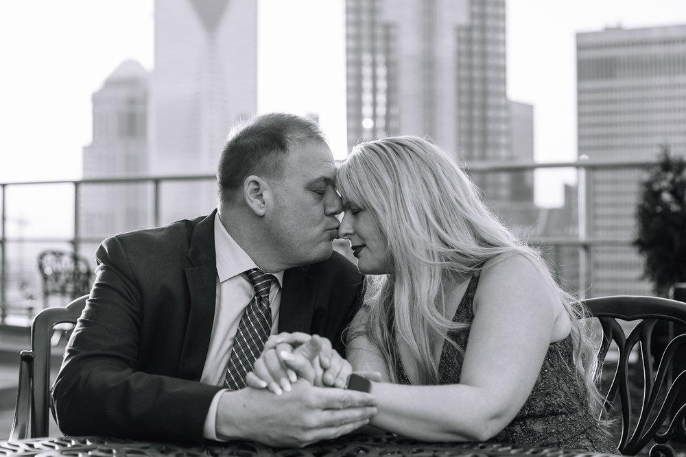 charlotte north carolina wedding photographer suprprise proposal fahrenheit