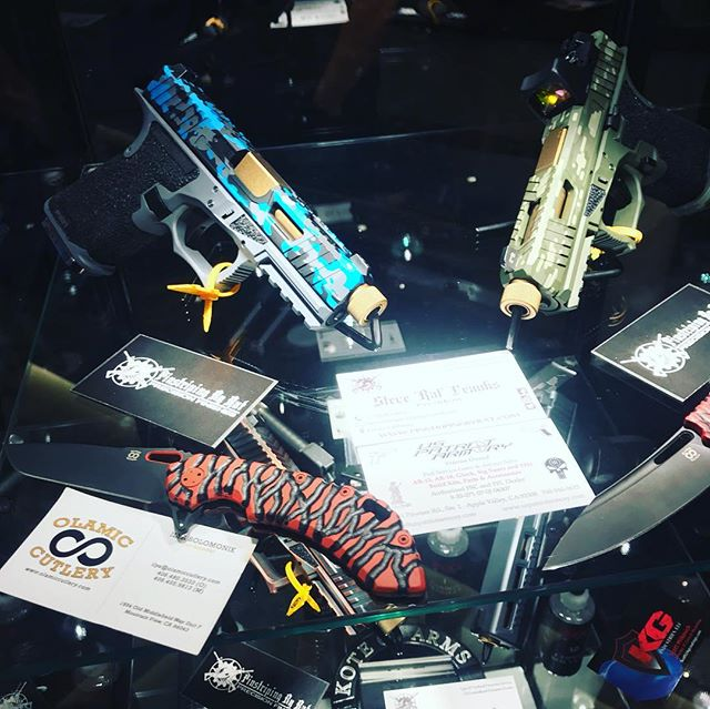 #Guns + #Knives + #Crypto + #chocolatefountains = #shotshow2019 #yearofthepig #freedom #adelainvestment #toponepercent