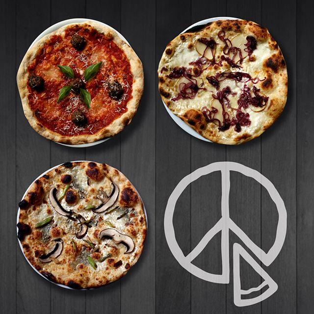 Lunch pizzas this week: Margerita, Portobello-Gorgonzola, Meatball, Pear! #pizzahelsinki #helsinkilunch #lunchpizzahelsinki