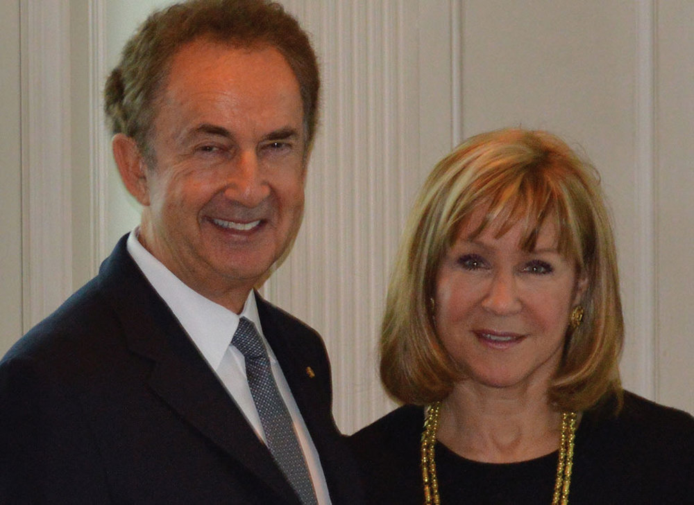 Gerald Schwartz and Heather Reisman