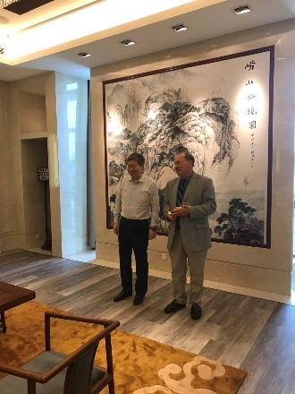 David meets with Zhang Ruimin, CEO and chairman of Haier Group