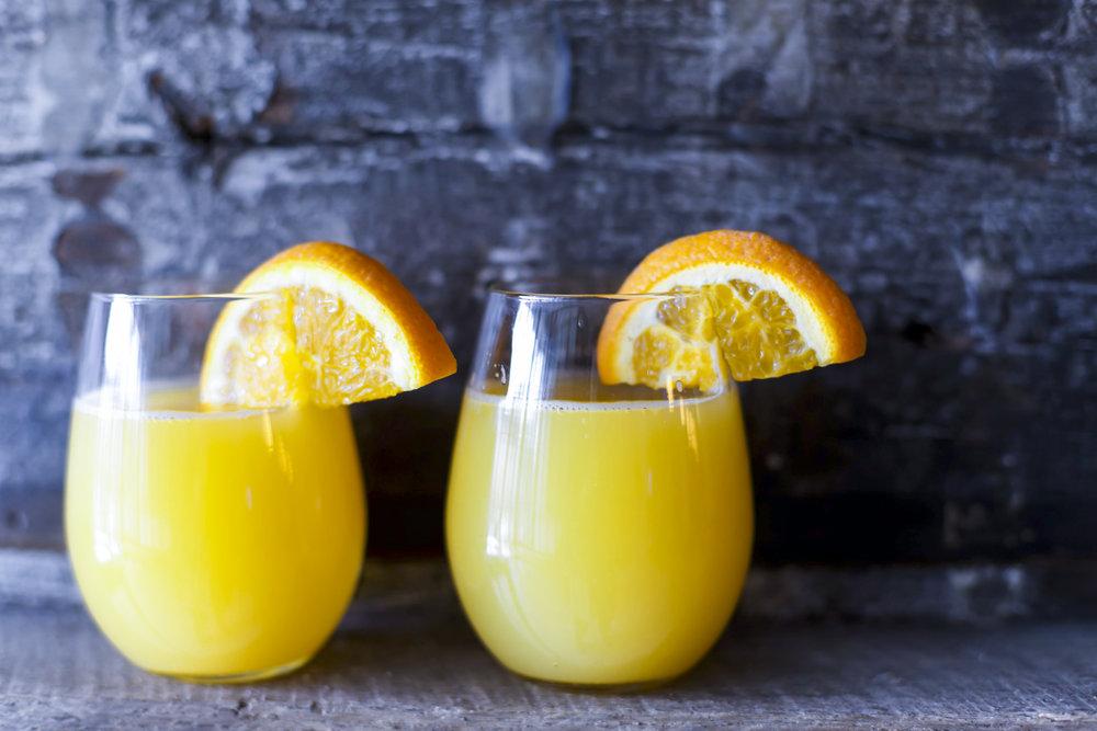 $20 Bottomless Mimosas Saturday & Sunday 10AM-2PM