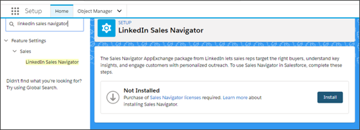 The install process for LinkedIn Sales Navigator is now much easier.