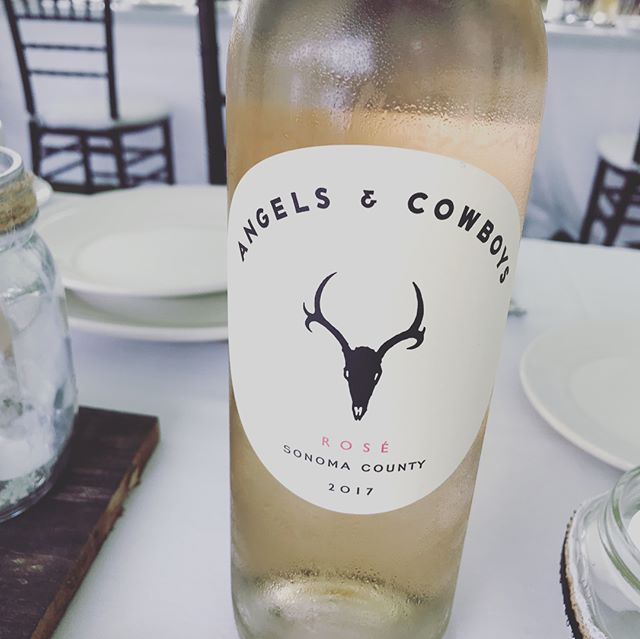 Congratulations Carly + Adam!!!! ❤️❤️❤️❤️❤️ And how awesome is this wine for their wedding? If you ever meet these two wonderful people, you'll know that Angels and Cowboys is the perfect way to describe them. More photos to come!