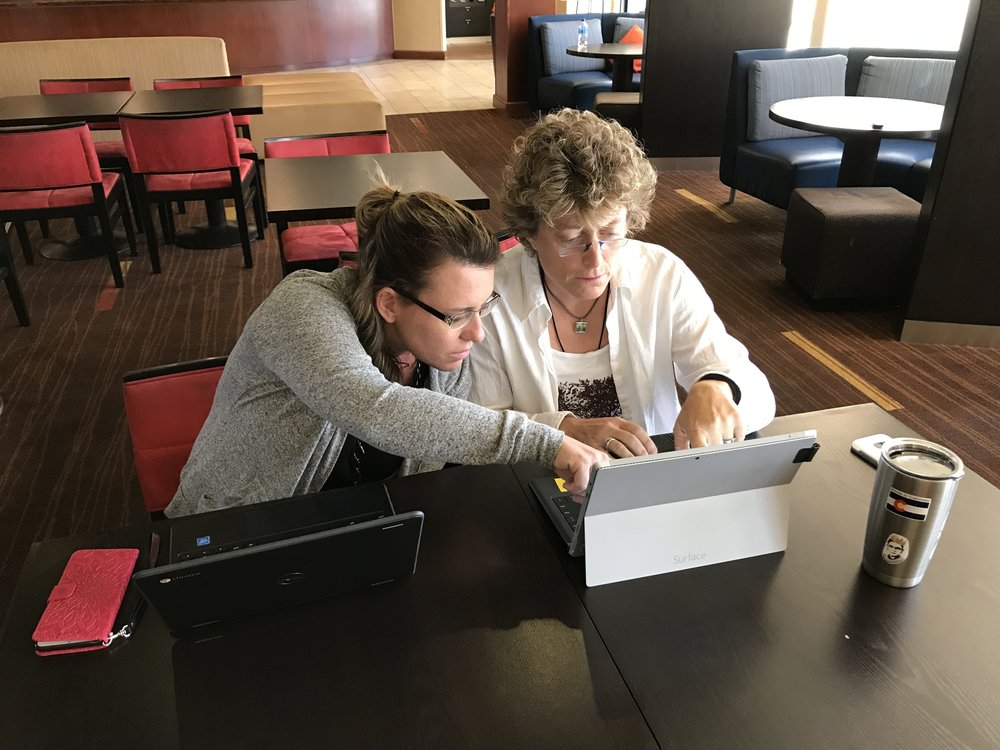 Fellows work on designing career-ready performance tasks during a June convening.
